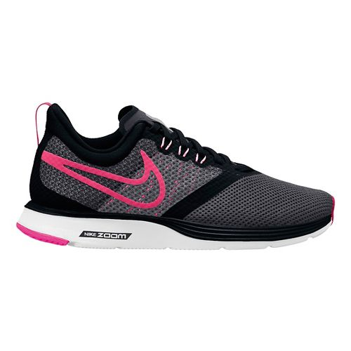 Kids Nike Strike Running Shoe - Black/Pink 4.5Y