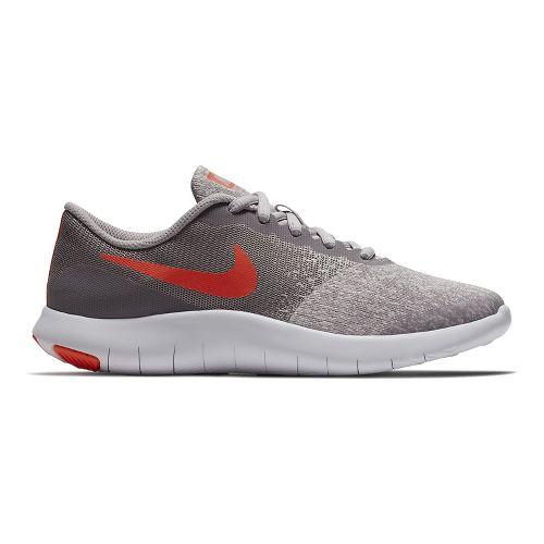 Kids Nike Flex Contact Running Shoe - Grey/Crimson 3.5Y