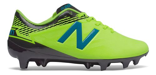 Kids New Balance Junior Furon 3.0 Dispatch FG Cleated Shoe - Yellow/Blue 5.5Y