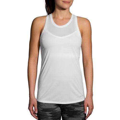 Womens Brooks Stealth Sleeveless & Tank Technical Tops - White L