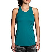 Womens Brooks Stealth Sleeveless & Tank Technical Tops - Ocean S