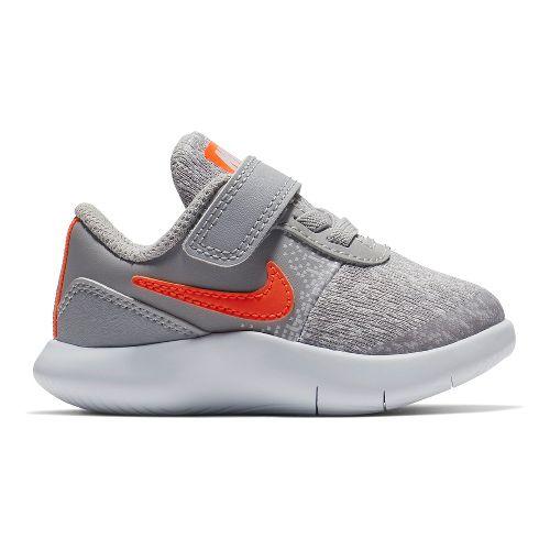 Kids Nike Flex Contact Running Shoe - Grey/Crimson 7C