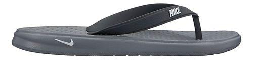 Kids Nike Solay Thong Sandals Shoe - Grey/Black 5Y