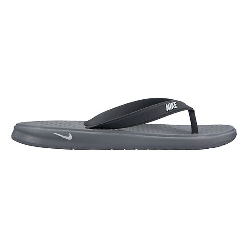 Kids Nike Solay Thong Sandals Shoe - Grey/Black 3Y