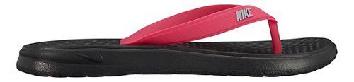 Kids Nike Solay Thong Sandals Shoe - Pink/Black 3Y
