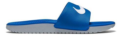 Kids Nike Kawa Slide Sandals Shoe - Blue/Grey 6Y