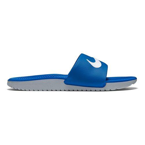 Kids Nike Kawa Slide Sandals Shoe - Blue/Grey 3Y