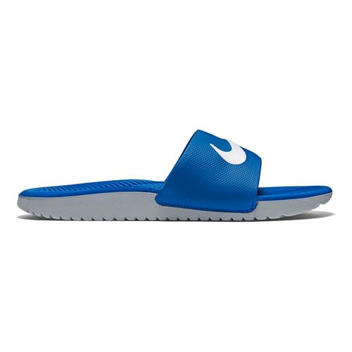 Kids Nike Kawa Slide Sandals Shoe - Blue/Grey 7Y