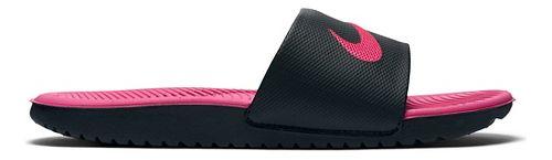 Kids Nike Kawa Slide Sandals Shoe - Black/Pink 5Y