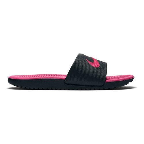 Kids Nike Kawa Slide Sandals Shoe - Black/Pink 5Y