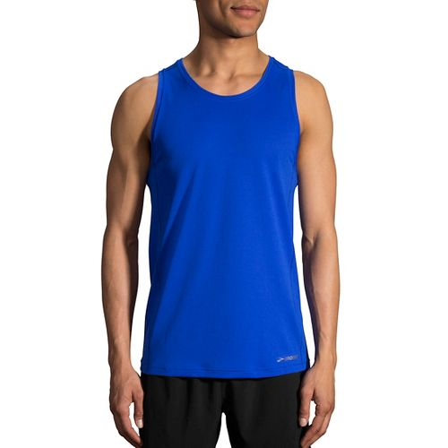 Mens Brooks Ghost Sleeveless & Tank Technical Tops - Royal S