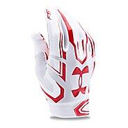 Mens Under Armour F5 Handwear - White/Red S