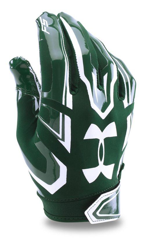 Mens Under Armour F5 Handwear - Forest Green/White L