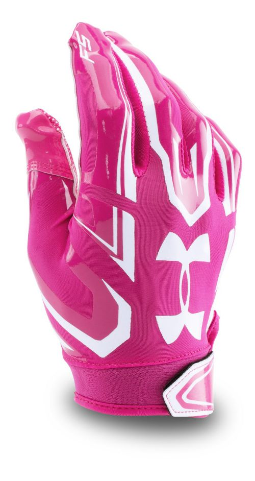 Mens Under Armour F5 Handwear - Tropic Pink/White L