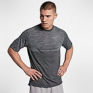 Mens Nike Dry Medalist Short Sleeve Technical Tops - Wolf Grey/Black M