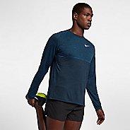 Mens Nike Dry Medalist Top Long Sleeve Technical Tops - Blue Force/Black XL