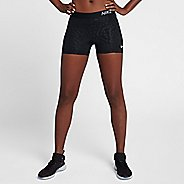 "Womens Nike Pro 3"" Printed Short Compression & Fitted Shorts"