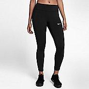 Womens Nike Power Epic Lux Crop Mesh Crop Pants - Black XL