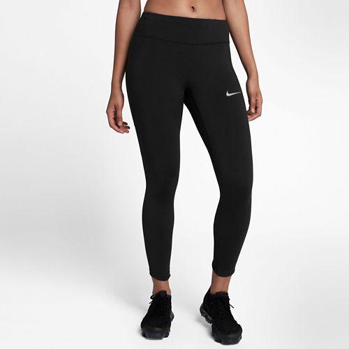 Womens Nike Power Epic Lux Crop Mesh Crop Pants - Black XS