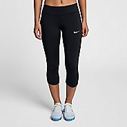 Womens Nike Power Epic Lux Capri Mesh Capris Pants - Black XS