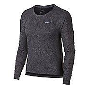 Womens Nike Dry Medalist Heathered Long Sleeve Long Sleeve Technical Tops