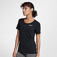 Womens Nike Pro All Over Mesh Short Sleeve Technical Tops - Black XL