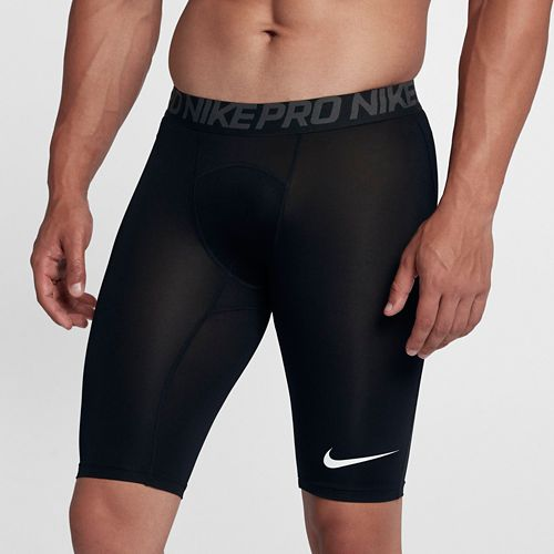 Mens Nike Pro Long Short Compression & Fitted Shorts - Black S