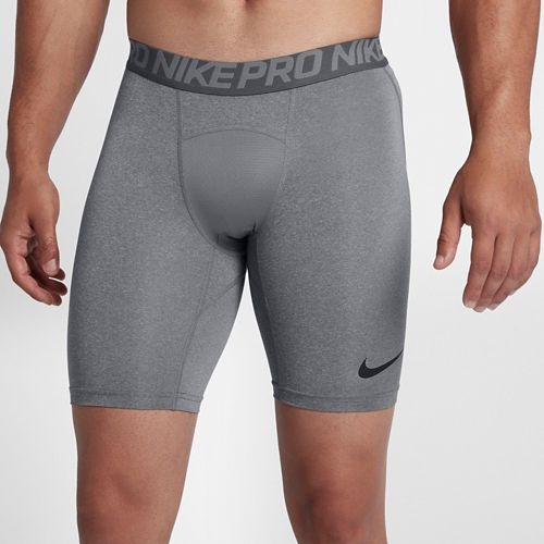 Mens Nike Pro Short Compression & Fitted Shorts - Carbon Heather L