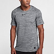 Mens Nike Pro Fitted Heathered Short Sleeve Short Sleeve Technical Tops