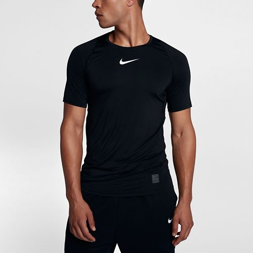 Mens Nike Pro Fitted Short Sleeve Short Sleeve Technical Tops - Black XL