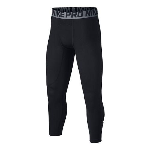 Nike Boys Pro 3/4 Tight Tights & Leggings Pants - Black YS