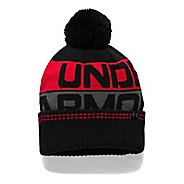 Mens Under Armour Retro Pom Beanie 2.0 Headwear