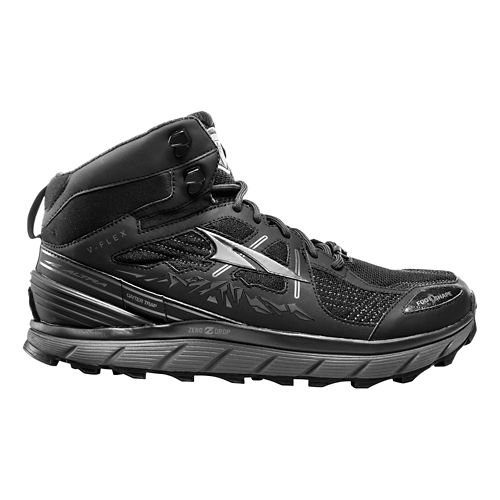 Mens Altra Lone Peak 3.5 Mid Mesh Trail Running Shoe - Black 10