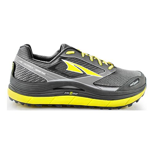Mens Altra Olympus 2.5 Trail Running Shoe - Grey/Lime 8.5