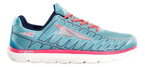 Womens Altra One V3 Running Shoe - Light Blue/Coral 12