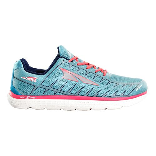 Womens Altra One V3 Running Shoe - Light Blue/Coral 10