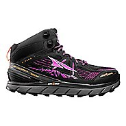 Womens Altra Lone Peak 3.5 Mid Mesh Trail Running Shoe - Purple/Orange 7.5