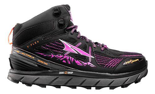 Womens Altra Lone Peak 3.5 Mid Mesh Trail Running Shoe - Purple/Orange 9