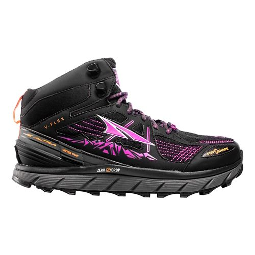 Womens Altra Lone Peak 3.5 Mid Mesh Trail Running Shoe - Purple/Orange 7.5
