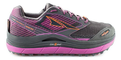Womens Altra Olympus 2.5 Trail Running Shoe - Grey/Purple 9