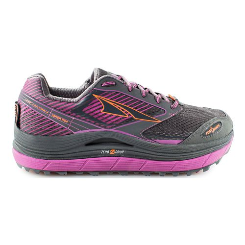 Womens Altra Olympus 2.5 Trail Running Shoe - Grey/Purple 6.5