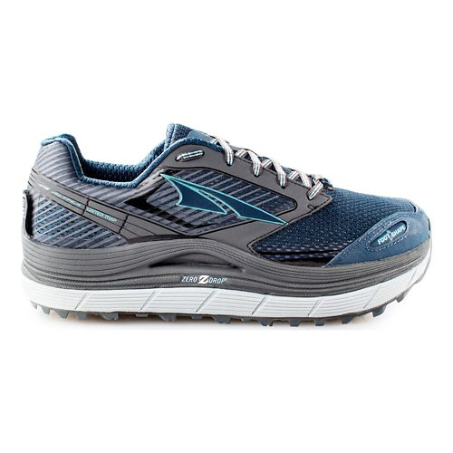 Womens Altra Olympus 2.5 Trail Running Shoe - Grey/Blue 10.5