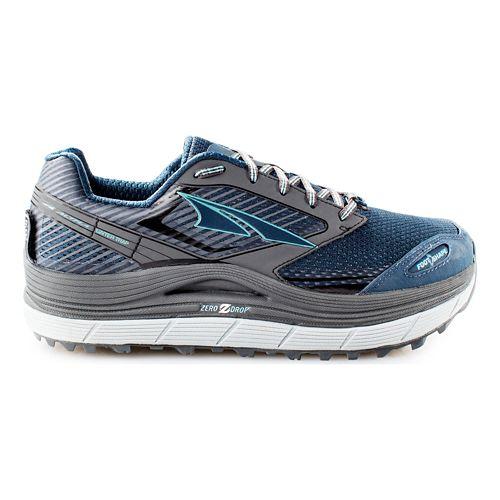 Womens Altra Olympus 2.5 Trail Running Shoe - Grey/Blue 7.5