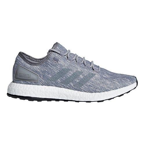Mens adidas Pure Boost Running Shoe - Grey/Grey/Grey 8.5