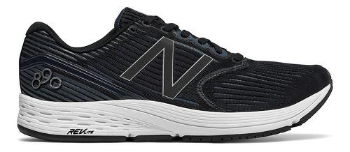 Mens New Balance 890v6 Running Shoe - Black/White 9