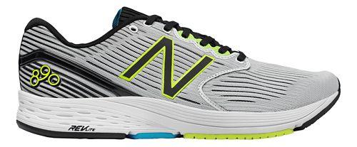 Mens New Balance 890v6 Running Shoe - White/Black 12.5