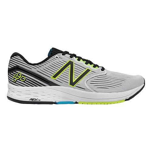 Mens New Balance 890v6 Running Shoe - White/Black 12