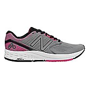 Womens New Balance 890v6 Running Shoe - Grey/Pink/Black 10