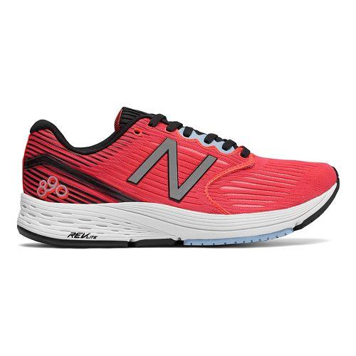 Womens New Balance 890v6 Running Shoe - Coral/Black/Sky 12