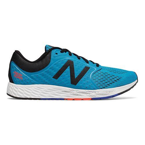 Mens New Balance Fresh Foam Zante v4 Running Shoe - Blue/Black/Flame 9